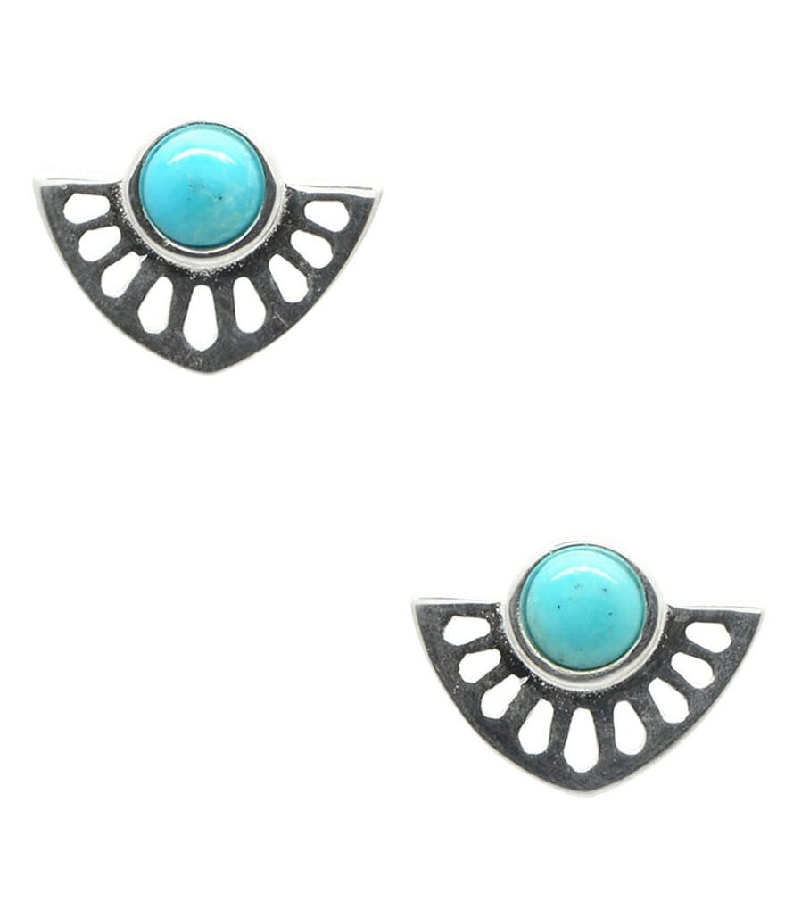 Barse Genuine Arizona Turquoise Stud Earrings