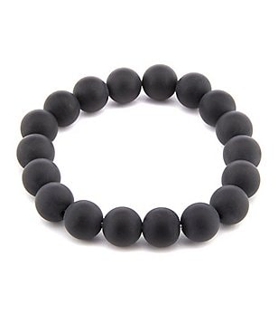 Barse Genuine Matte Onyx Stretch Bracelet