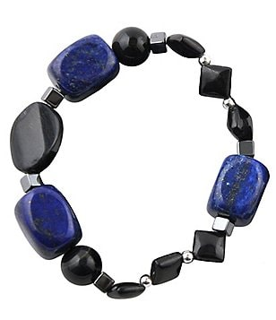 Barse Genuine Hematite, Tiger´s Eye & Lapis Stretch Bracelet