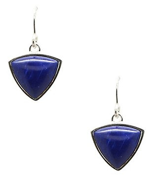 Barse Sterling Silver and Lapis Drop Earrings