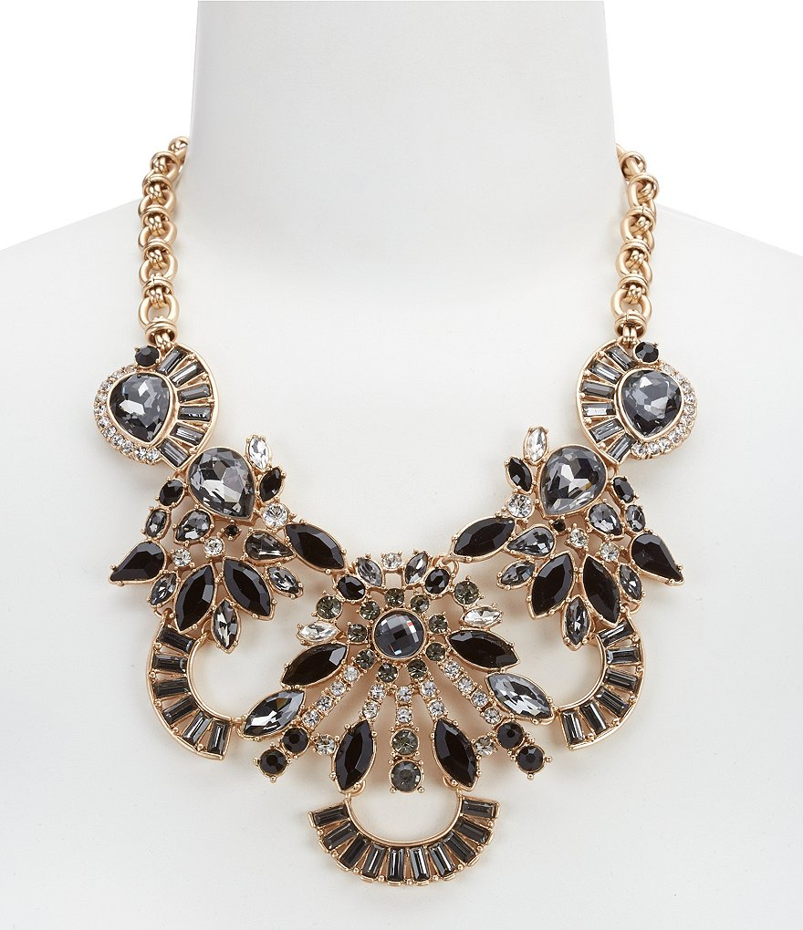 Belle Badgley Mischka Multi-Stone Statement Necklace