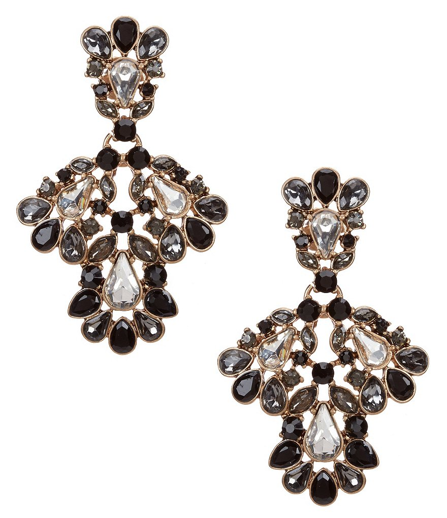 Belle Badgley Mischka Crystal Stone Drop Earrings