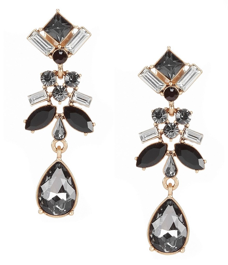 Belle Badgley Mischka Multi-Stone Linear Drop Earrings