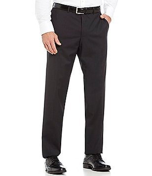 HUGO BOSS C-Movie Classic-Fit Flat-Front Solid Dress Pants