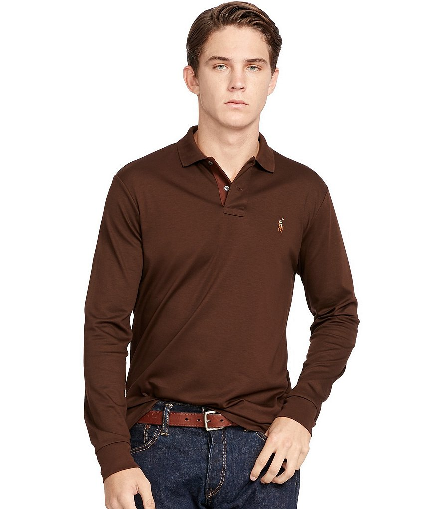 Polo Ralph Lauren Pima Soft-Touch Long-Sleeve Solid Polo Shirt