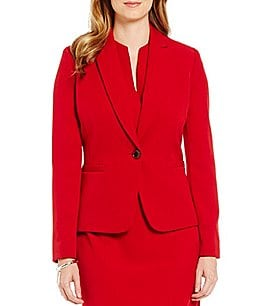 Preston & York Hale V-Neck Solid Crepe Jacket Image