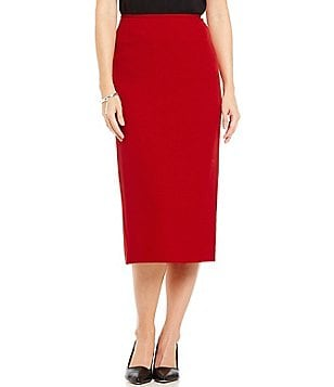 Preston & York Taylor Crepe Pencil Midi Skirt