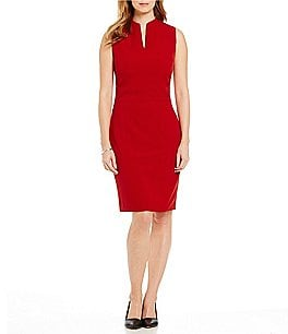 Preston & York Roanna Sleeveless Crepe Sheath Dress Image
