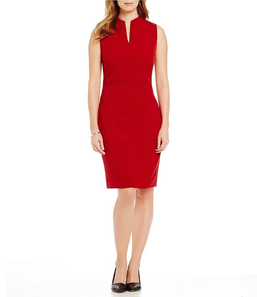 Preston & York Roanna Sleeveless Crepe Sheath Dress