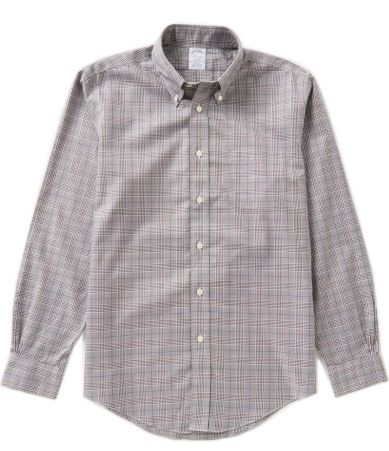 Brooks brothers non iron regent fit long sleeve glen plaid for Brooks brothers non iron shirt review