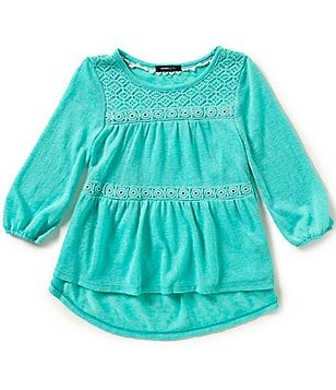 Takara Big Girls 7-16 Lace High-Low Top