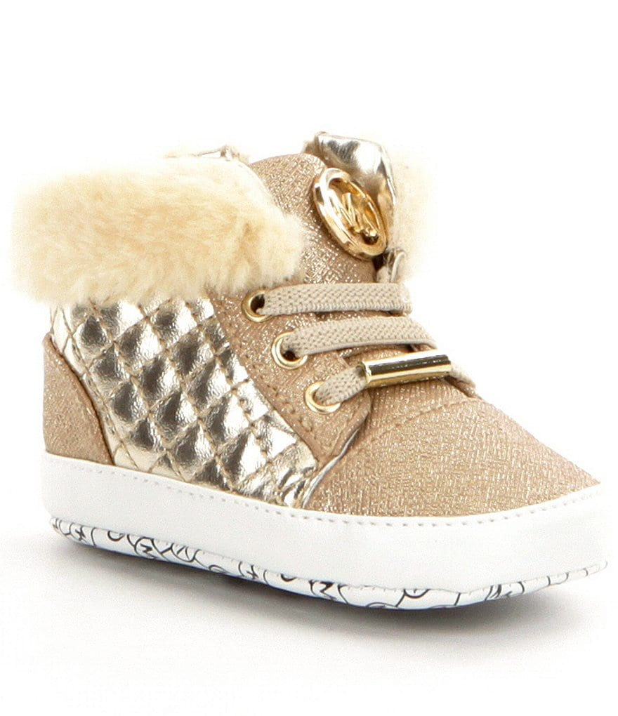 MICHAEL Michael Kors Girl´s Baby Lee Faux Fur Crib Shoes