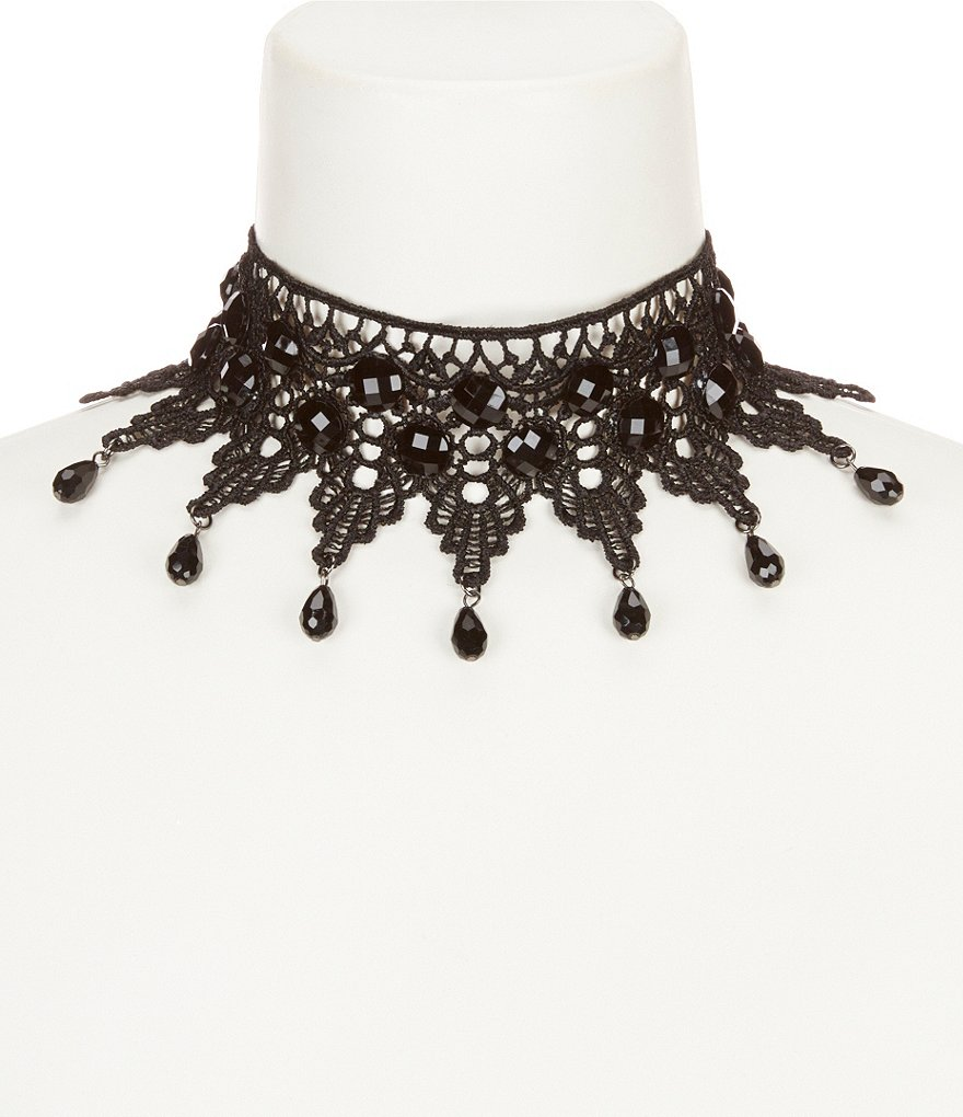 Natasha Accessories Crochet Choker Necklace