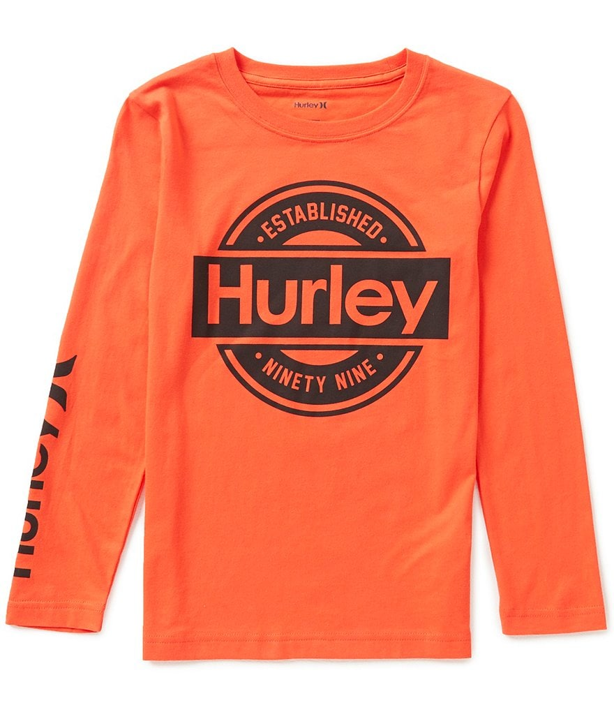 Hurley Big Boys 8-20 Katshaq Long-Sleeve Tee
