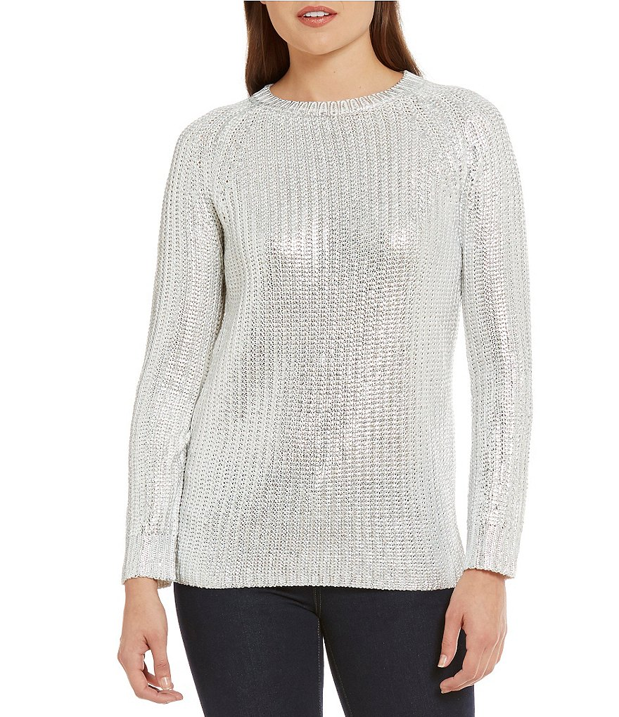 Cremieux Thea Metallic Sweater
