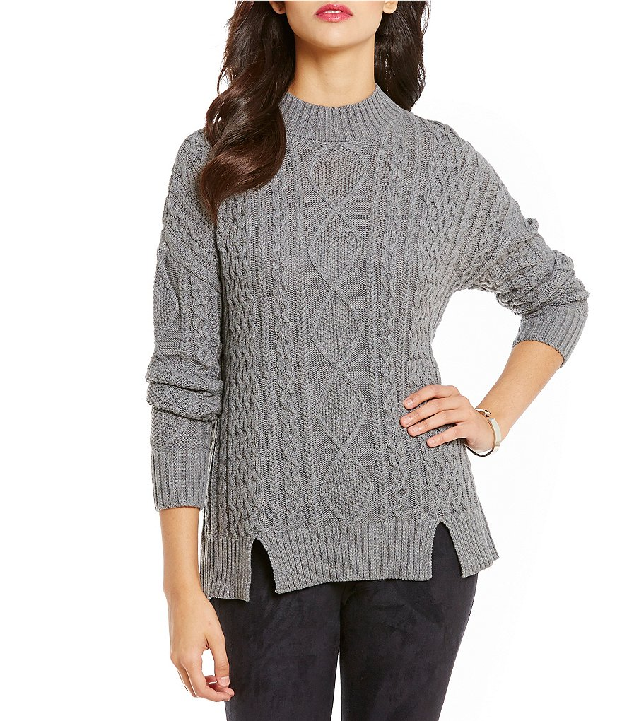 Cremieux Brea Round Neck Long Sleeve Chunky Knit Top
