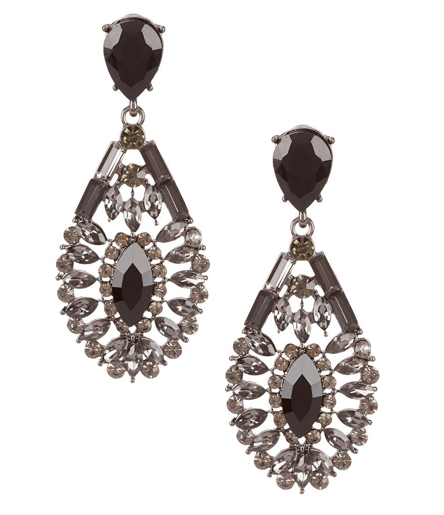 Natasha Accessories Teardrop Statement Earrings