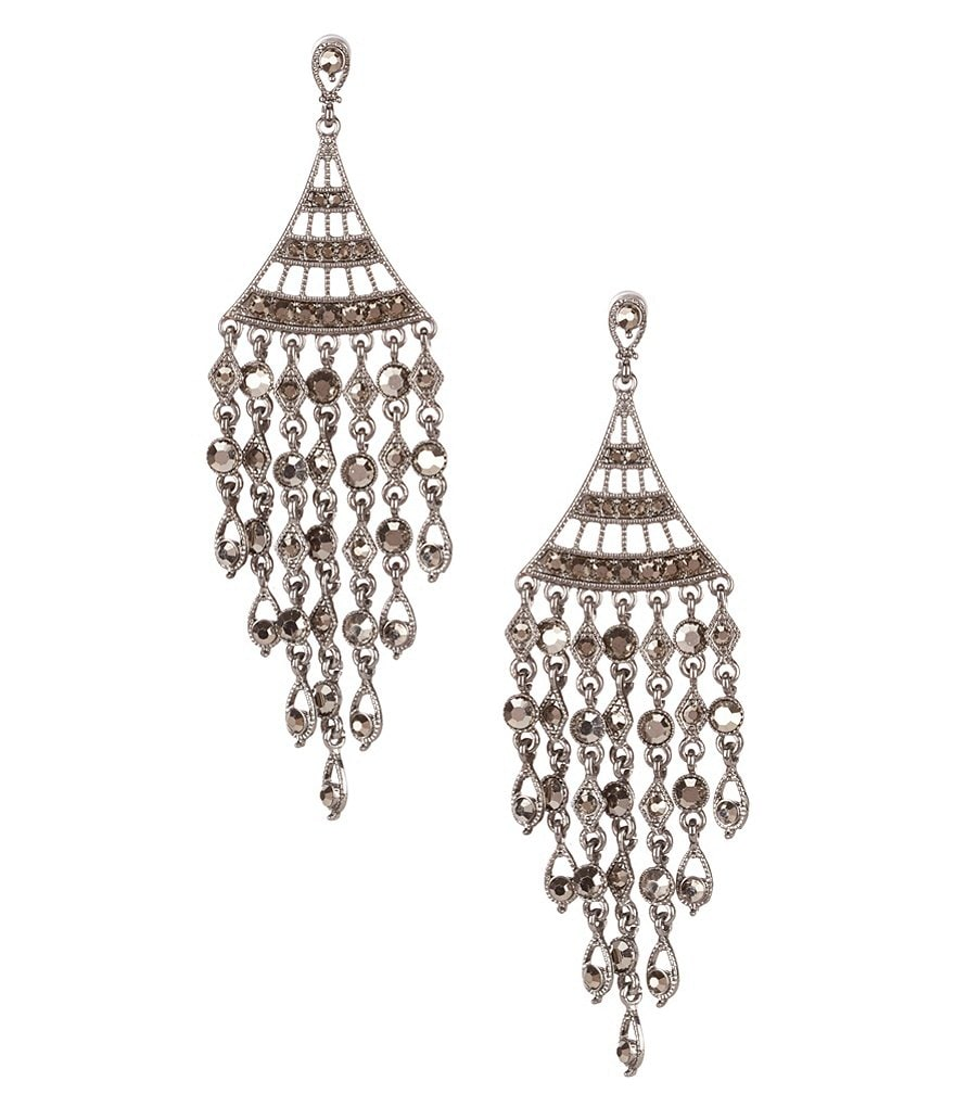 Natasha Accessories Chandelier Statement Earrings