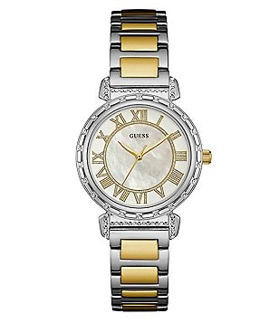 Guess Mother-Of-Pearl Bracelet Watch