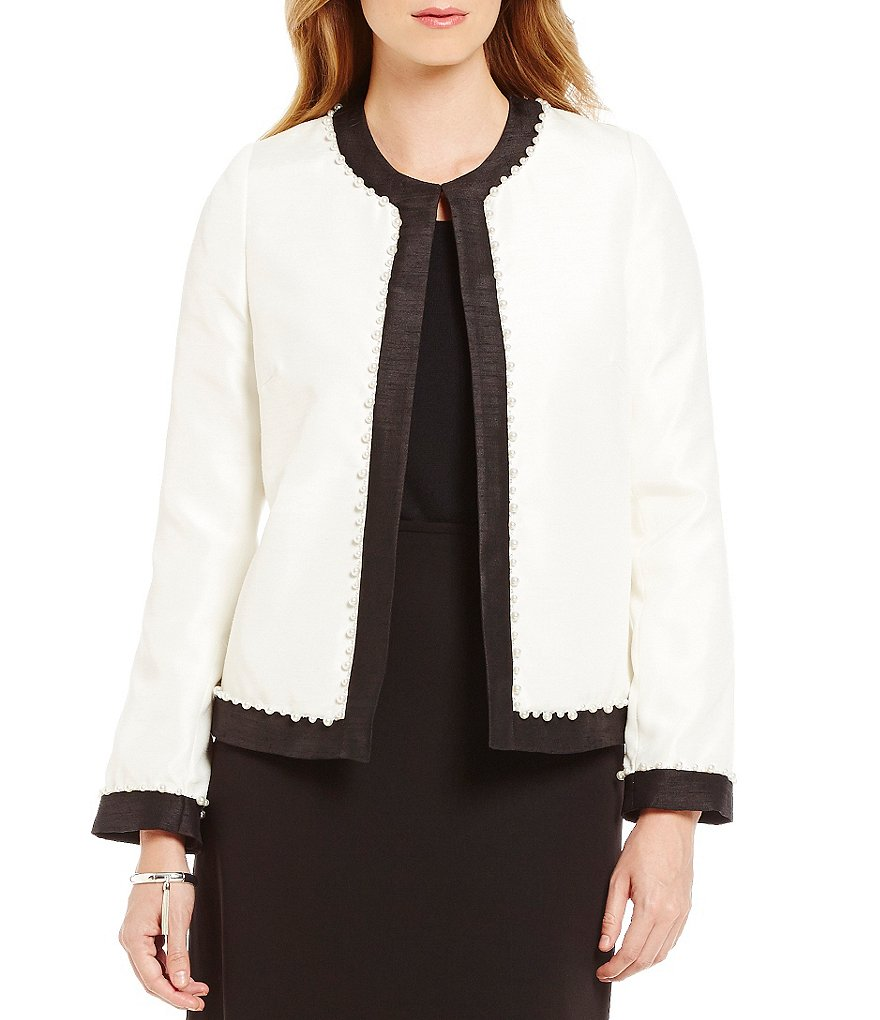 Preston & York Dominique Round Neck Shantung Jacket