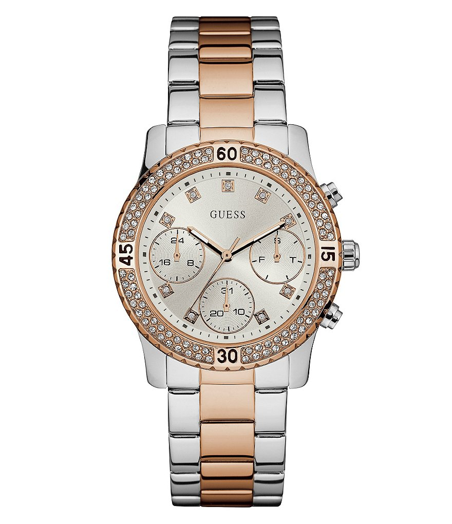 Guess Crystal Multifunction Bracelet Watch