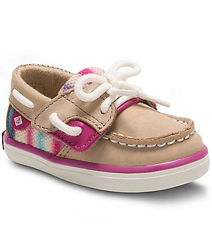 Sperry Girl´s Bluefish Multi-Colored Leather Slip-On Crib Shoes