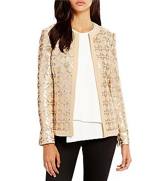 Katherine Kelly Cameron Open Front Sequin Jacket