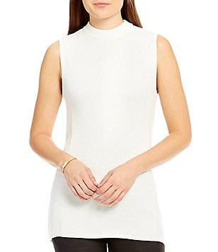 Katherine Kelly Janelle Sleeveless Mock Neck Knit