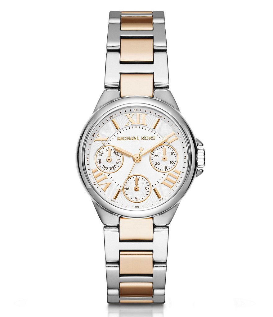 Michael Kors Mini Bailey Two-Tone Multifunction Bracelet Watch
