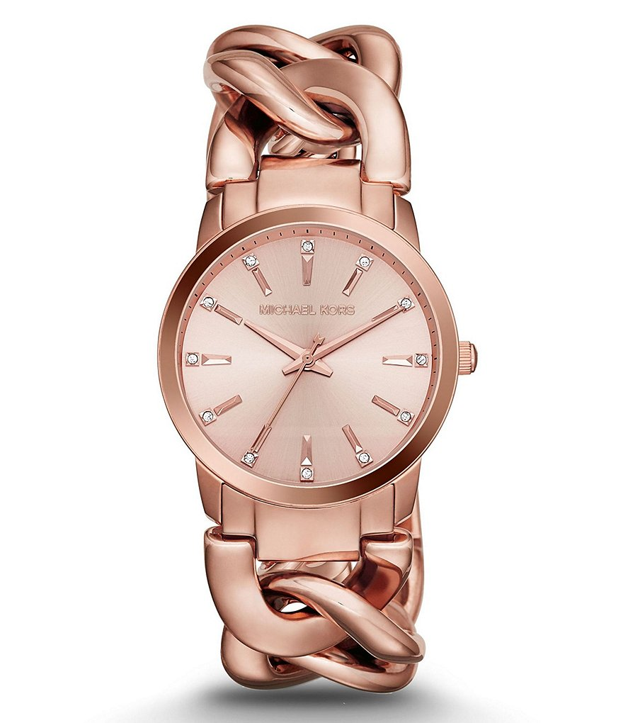 Michael Kors Elena Analog Chain Bracelet Watch