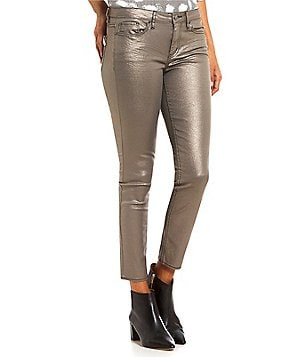 Calvin Klein Jeans Metallic Stretch Denim Skinny Ankle Jeans