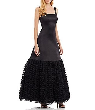 Nicole Miller New York Scoop Neck Sleeveless Ruffled-Hem Ballgown