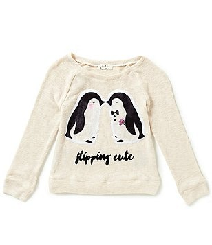 Jessica Simpson Big Girls 7-16 Stellar Penguins Sweater