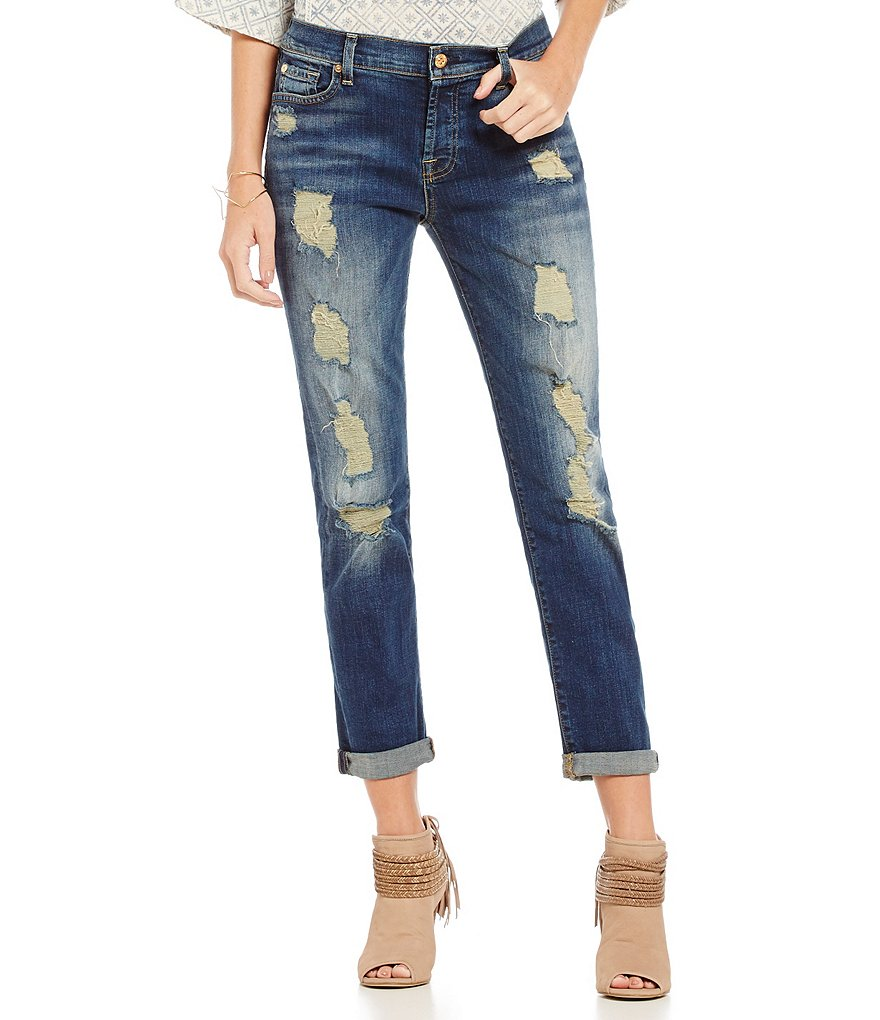 7 For All Mankind Josefina with Destruction Jeans
