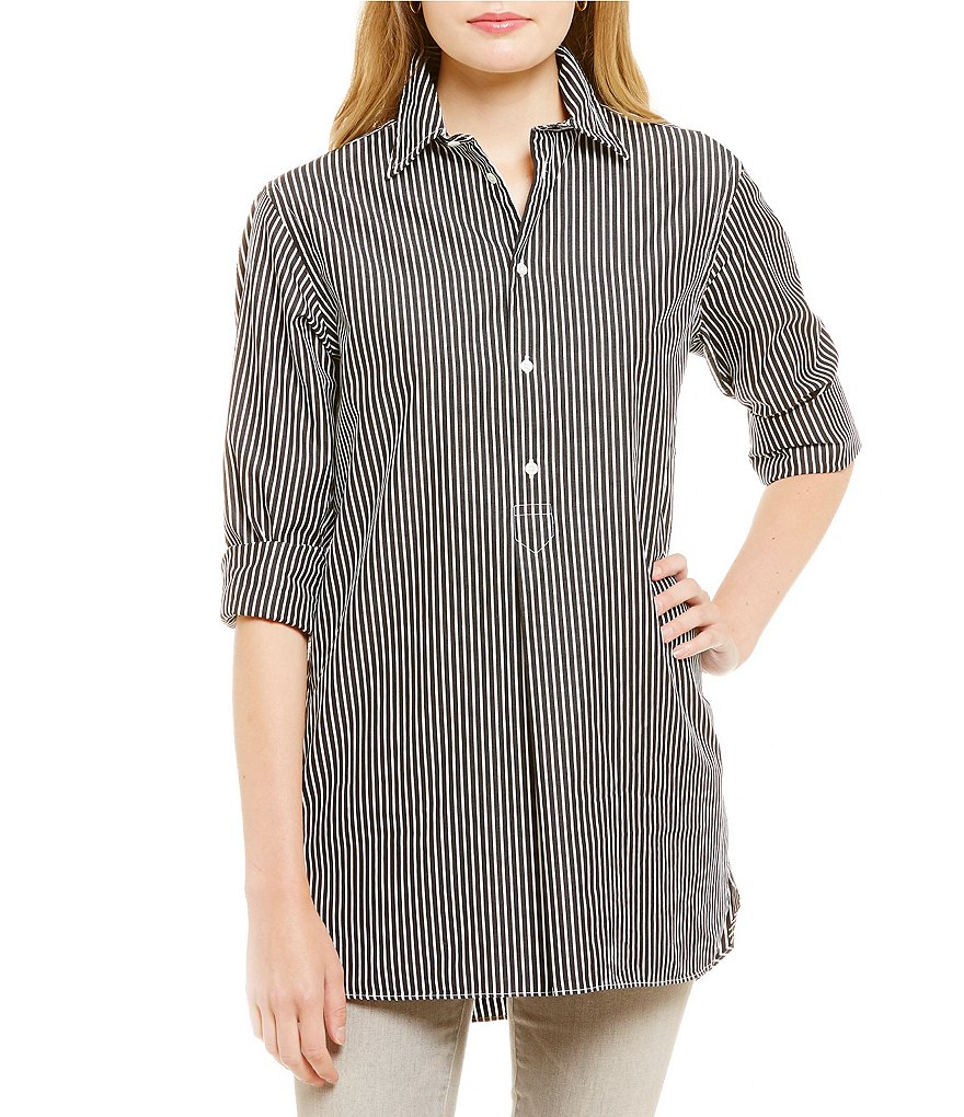 Polo Ralph Lauren Striped Cotton Long Sleeve Tunic