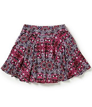 Jessica Simpson Little Girls 2T-6X Selena Pleated Printed Skirt