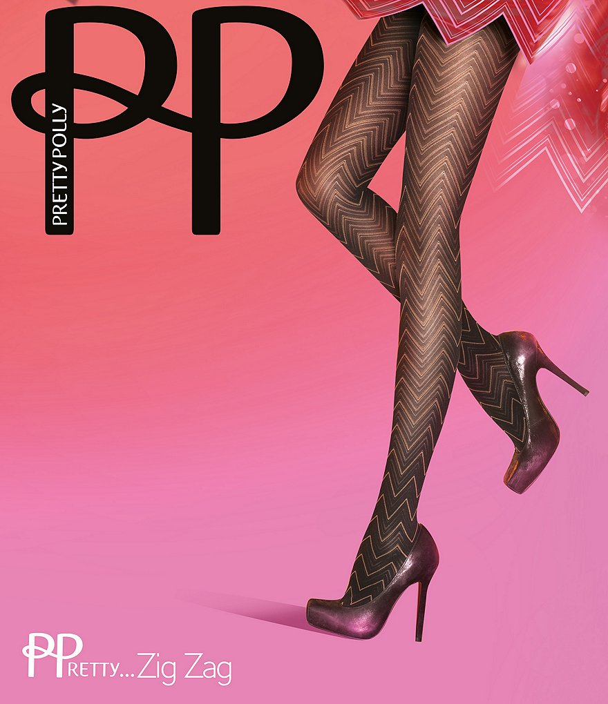 Pretty Polly Zig-Zag Chevron Tights