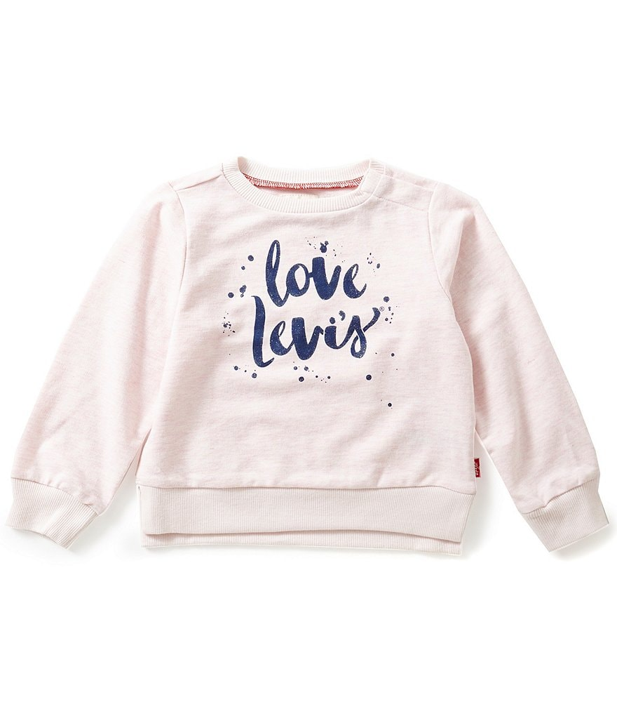 Levi´s® Baby Girls 12-24 Months Printed Crewneck French Terry Tee