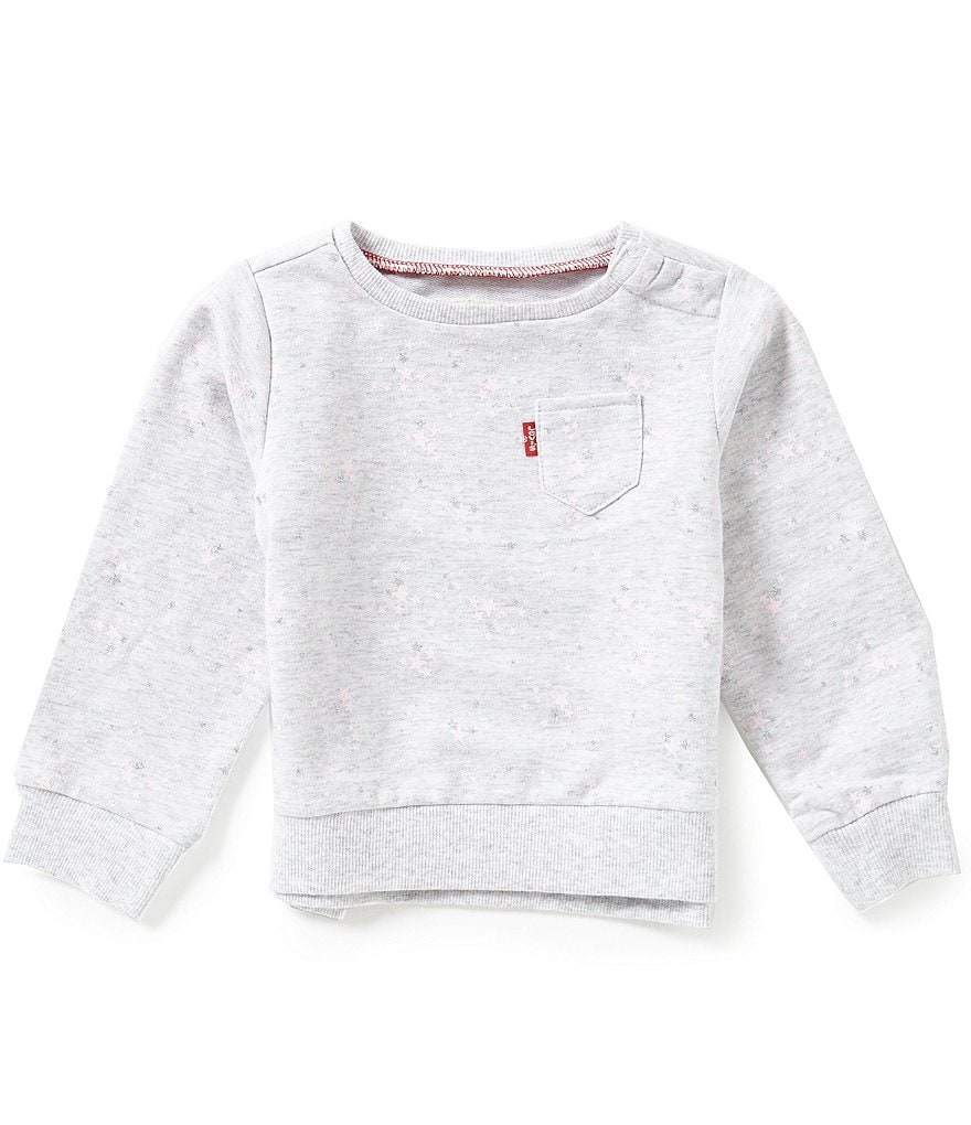 Levi's® Baby Girls 12-24 Months Star-Printed Crewneck French Terry Tee
