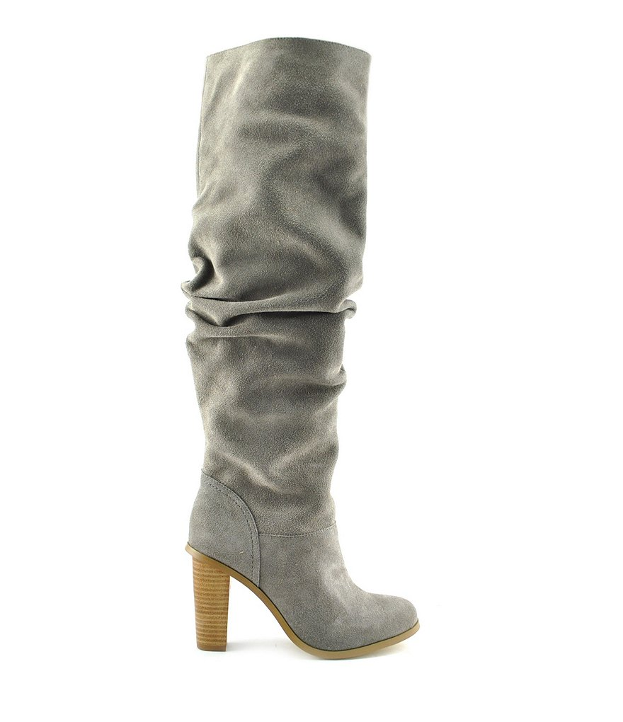 Volatile Astonishing Suede Pull-On Slouch Boots