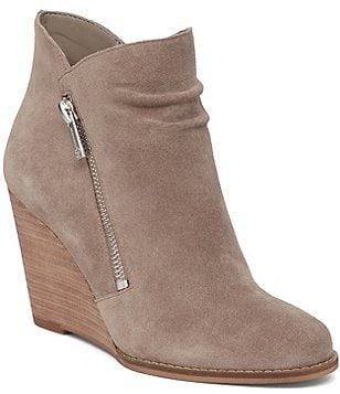 Jessica Simpson Cornella Side Zipper Wedge Ankle Boots