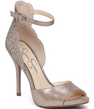Jessica Simpson Laser-Cut Peep Toe Bellona Pumps