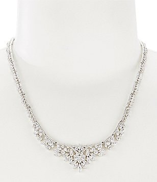 Nadri Faerie Cubic Zirconia Collar Necklace