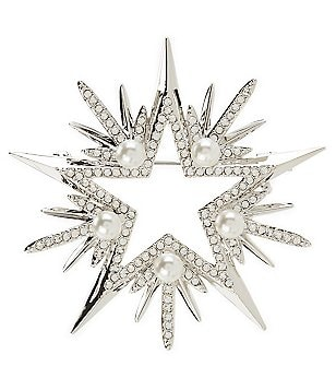 Nadri Jolly Pearl Star Pin