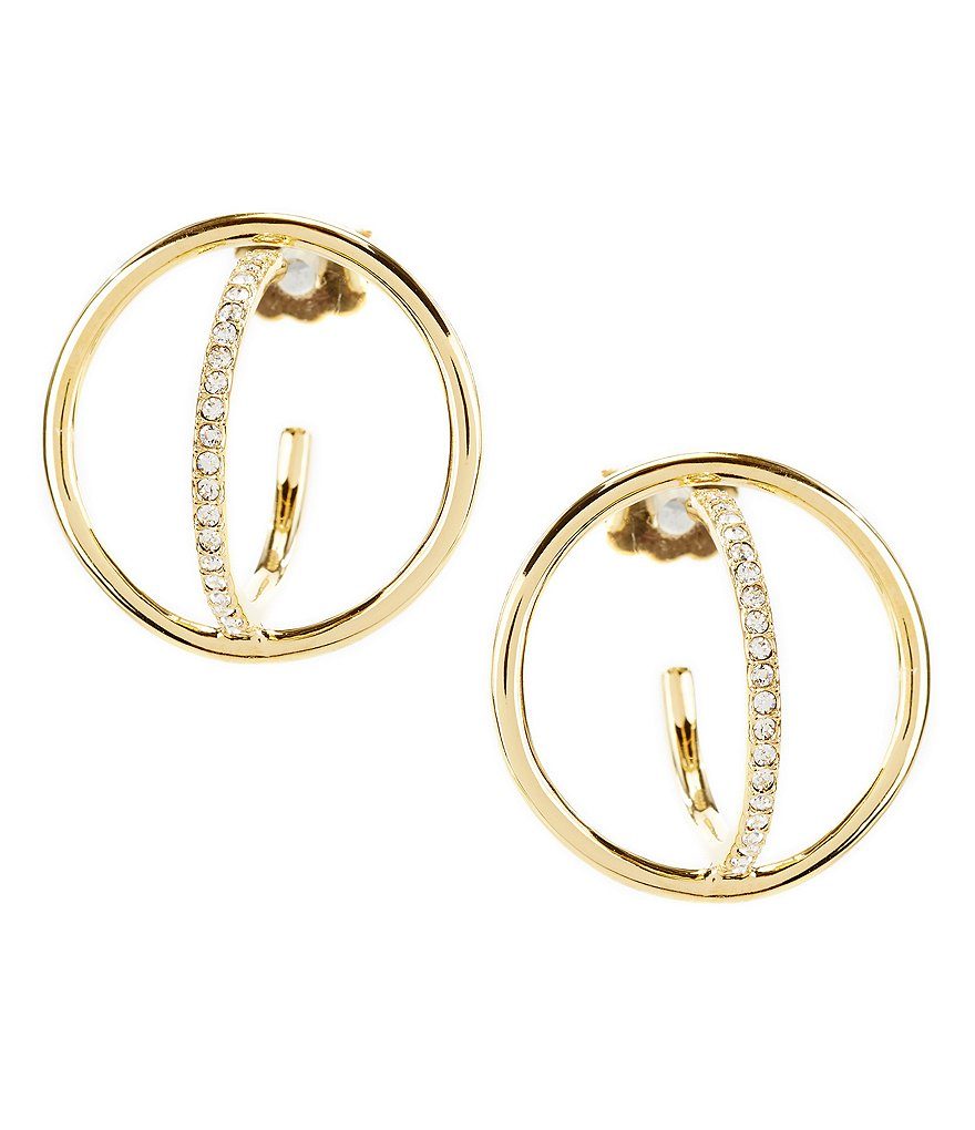 Nadri Sunset Double Circle Hoop Earrings