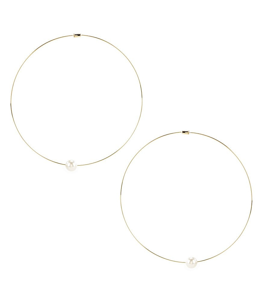 Nadri Sunset Pearl Hoop Earrings
