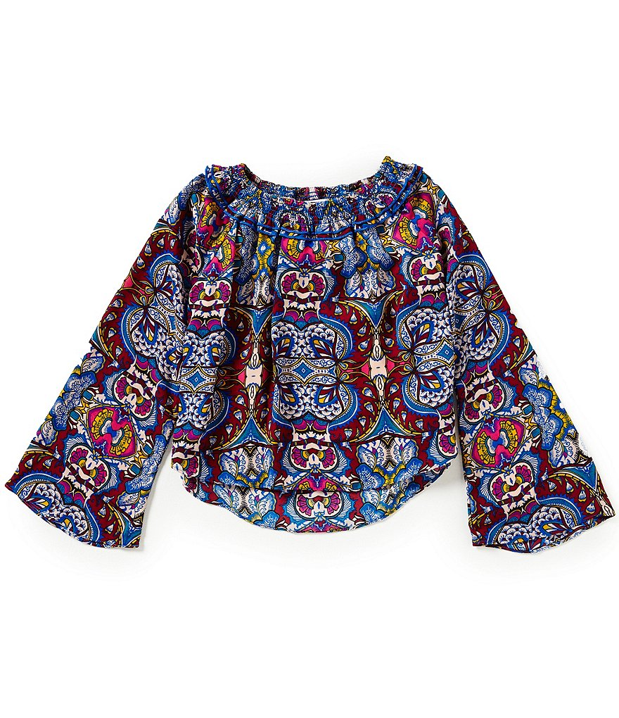 GB Girls Big Girls 7-16 Printed Peasant Top