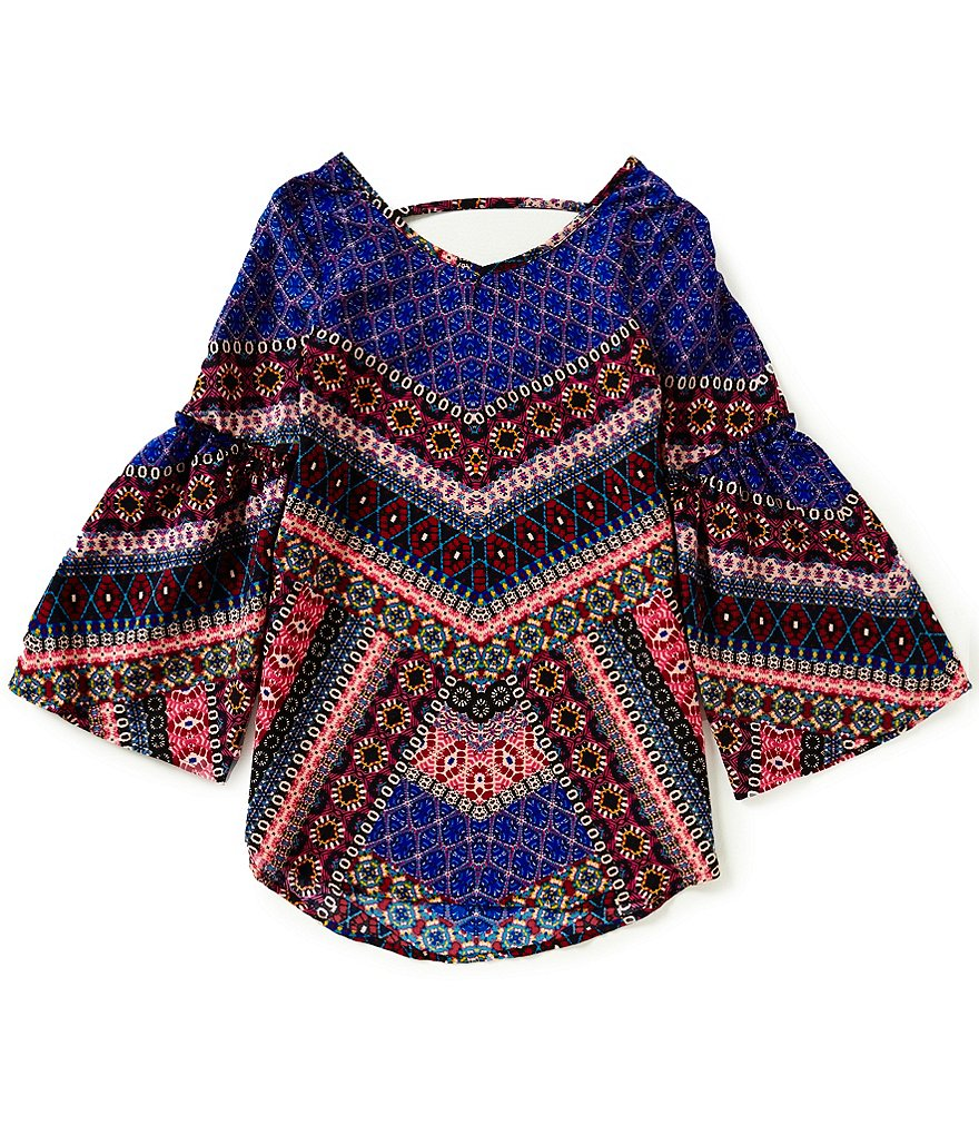 GB Girls Big Girls 7-16 Printed Peasant Tunic