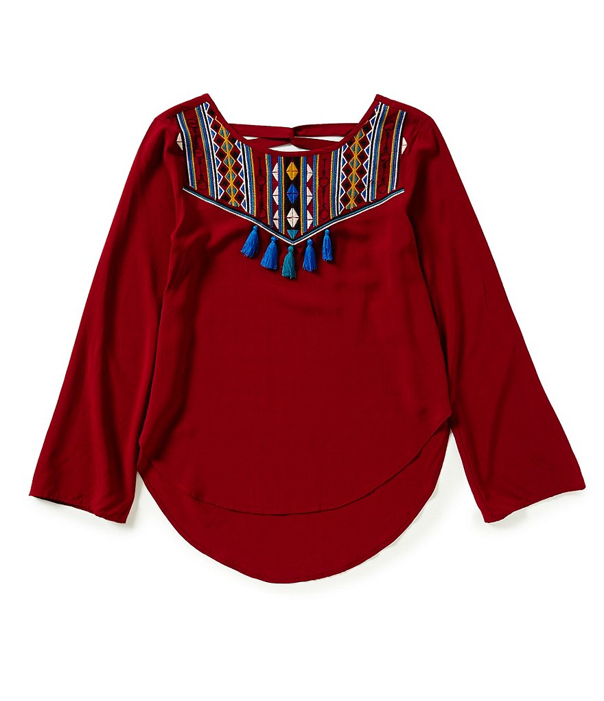 GB Girls Big Girls 7-16 Tassel-Front Tunic