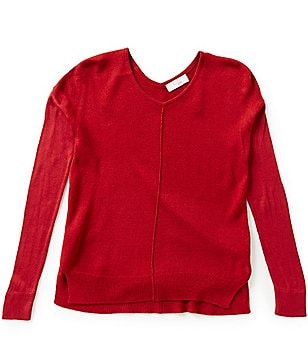 GB Girls Big Girls 7-16 V-Neck Hi-Low Sweater